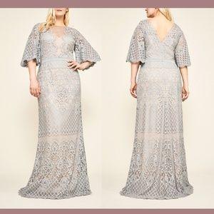 NEW Tadashi Shoji Malina Flutter Lace Gown 20W 20Q